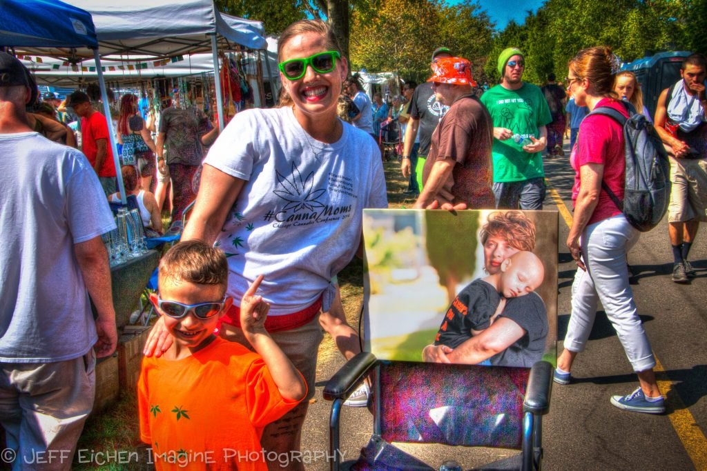 One of my Fave shots and Hemp Cancer Survivors- Landon and his CannaMom!