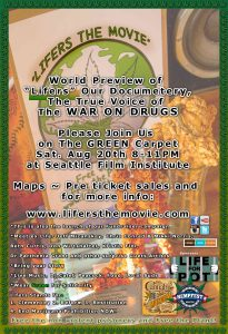 "Please Join Us on Sat Aug 20 8-11 PM at Seattle Film Institute for ""Lifers"" World Preview!!!"